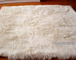 Furry Black Rug Furry Rug Etsy