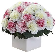 Artificial Flower Arrangement In Vase Carnation Arrangement With Vase Contemporary Artificial Flower