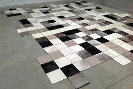peau de zebre tapis tapis peau vache cuir destructure sur mesure