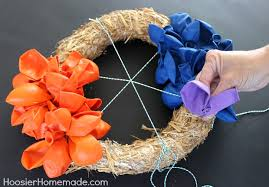 how to make wreaths how to make a balloon wreath hoosier