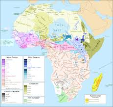 Regions Of Africa Map by Map Of African Languages Including Families And Subfamilies