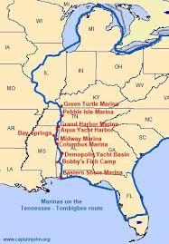 tombigbee waterway map cruising the tennessee tombigbee waterway america s great loop