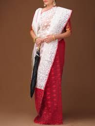 dhakai jamdani saree buy online buy white dhakai jamdani cotton saree online cotton saree