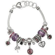 bracelet murano images Alexandrite june birthstone charm bracelet murano beads pandora jpg
