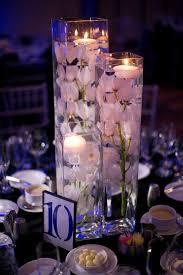 elegant simple diy centerpieces wedding silk orchids floating