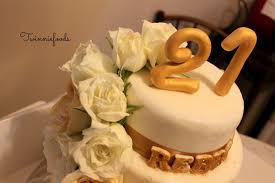 floral white u0026 gold 21st birthday cake twinniefoods