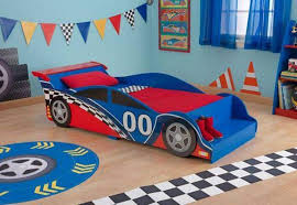 car bed toddler blue color with steps race car bed toddler