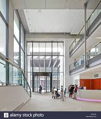 double height entrance foyer with information desk and gallery 5