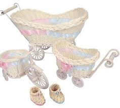 baby baskets mini pram baby baskets and favours shower stroller vintage