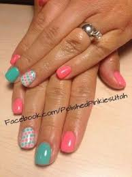 peachy ideas easy at home nail designs for short nails lady bug