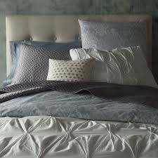 organic cotton pintuck duvet cover pillowcases west elm uk