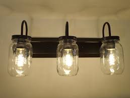 mason jar bathroom vanity light bathroom decorations