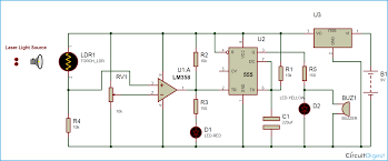 smoke detector alarm circuit diagram electronic circuits