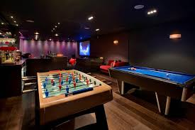 Game Room Basement Ideas - contemporary luxurious interiors at grange view residence in uk