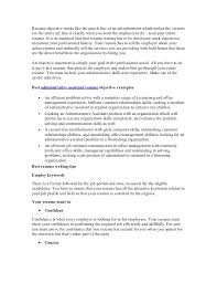 Career Objective Resume Examples by Resume Objective Administrative Assistant Sample