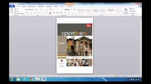 how to create a real estate flyer in microsoft word 2010 youtube