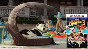outdoor dog chaise lounger outdoor dog bed furniture from the