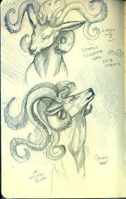 octopus deer sketch by kagedking on deviantart