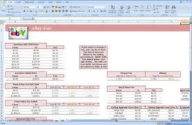 ebay auction spreadsheet track profit u0026 inventory software