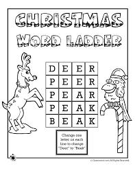 christmas 3 letter word ladder deer to beak answers woo jr