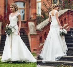 2016 new modest mermaid style wedding dresses lace corset back