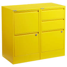 Files For Filing Cabinet Bisley Yellow 2 U0026 3 Drawer Locking Filing Cabinets The