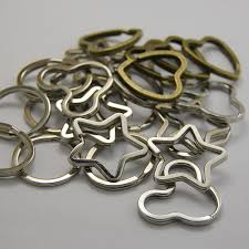 star key rings images 500pcs metal pentagram star key holder split rings keyring jpg