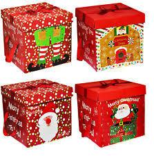 christmas boxes christmas large gift boxes ebay