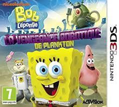 jeux de bob l 駱onge en cuisine bob l eponge la vengeance robotique de plankton nintendo 3ds