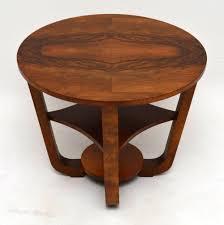 art deco figured walnut coffee table vintage 1920s antiques atlas