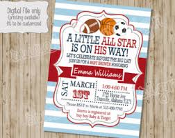 sport themed baby shower sports baby shower ticket invitations ultrasound invitation