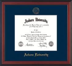 auburn diploma frame cherry au seal navy