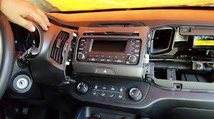 how to remove radio cd player from kia sportage 2013 for repair