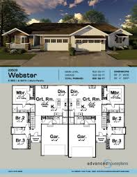 craftsman multi family house plan webster