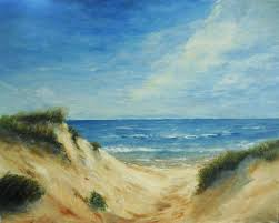 sand dunes acrylic painting oil pastels by mary