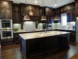 unique kitchen color ideas with dark wood cabinets m75 about home