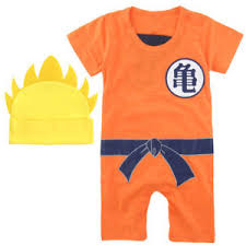 Dragon Ball Halloween Costumes Newborn Baby Boys Dragon Ball Romper Goku Anime Halloween
