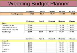 wedding budget template budget templates pinterest budget
