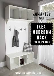 diy make your own u0027ikea hack u0027 mudroom bench u0026 storage for under