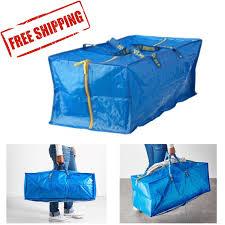 ikea frakta 20 gallon zippered storage bag travel shopping laundry