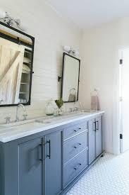 Pivot Bathroom Mirror Gray Blue Bathroom Dual Washstand With Bronze Industrial