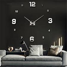 Horloge Murale Ronde Blanche Avec Yosoo Diy 3d Horloge Murale Design Géante Grande Taille Moderne