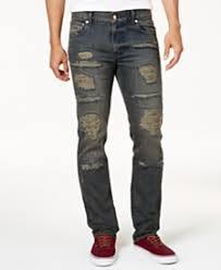 Mens Destroyed Skinny Jeans Ripped Mens Jeans U0026 Mens Denim Macy U0027s