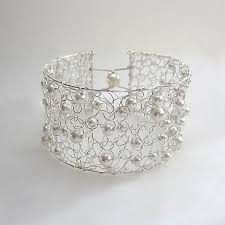 make silver bracelet cuff images Crocheted wire cuff bracelet plus helpful tips and tools jpg