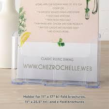 Bi Fold Wedding Program Custom Brochure Printing Vistaprint