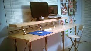 Raised Desk Shelf Desk Computer With Raised Monitor Shelf Intended For New House