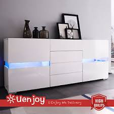 White Gloss Sideboards White High Gloss Sideboard Cabinet Chest Of Drawers Cupboard Flow