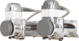 viair dual 400c chrome air compressor kit hornblasters