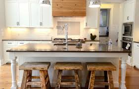 White Breakfast Bar Table Bar Stunning White Kitchen Design With Pendant Lamps And Wooden