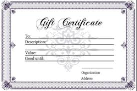gift certificates gift certificate templates printable gift certificates for any